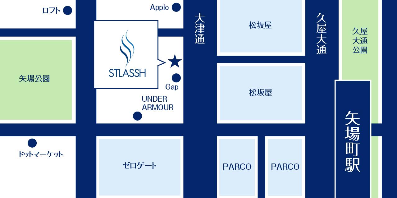名古屋栄松坂屋前店の地図詳細