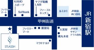 新宿南口店地図