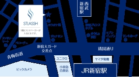 新宿西口店地図