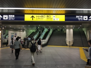横浜西口店道順1